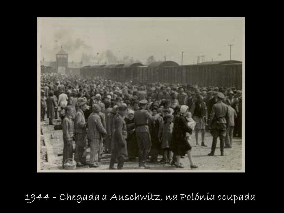 1944 - Chegada a Auschwitz, na Polónia ocupada