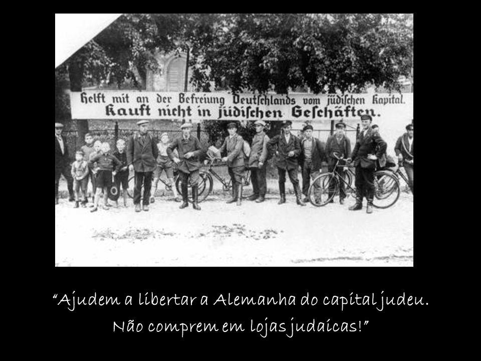 Ajudem a libertar a Alemanha do capital judeu. Não comprem em lojas judaicas!