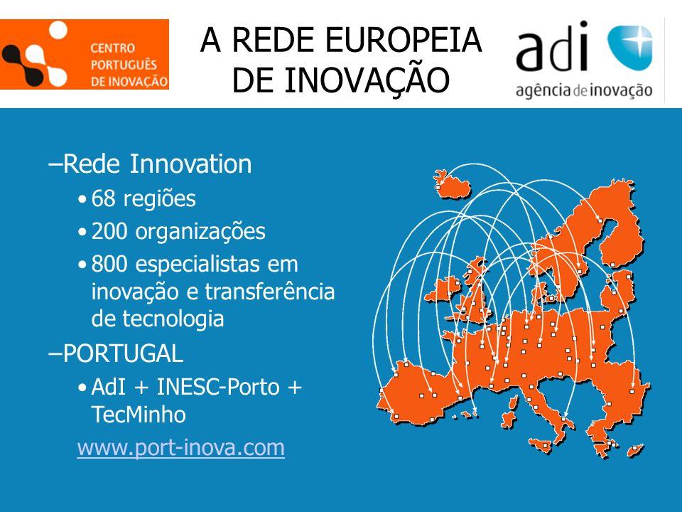 Click to edit Master text styles Second level Third level Fourth level Fifth level 15 A REDE EUROPEIA DE INOVAÇÃO –Rede Innovation 68 regiões 200 orga