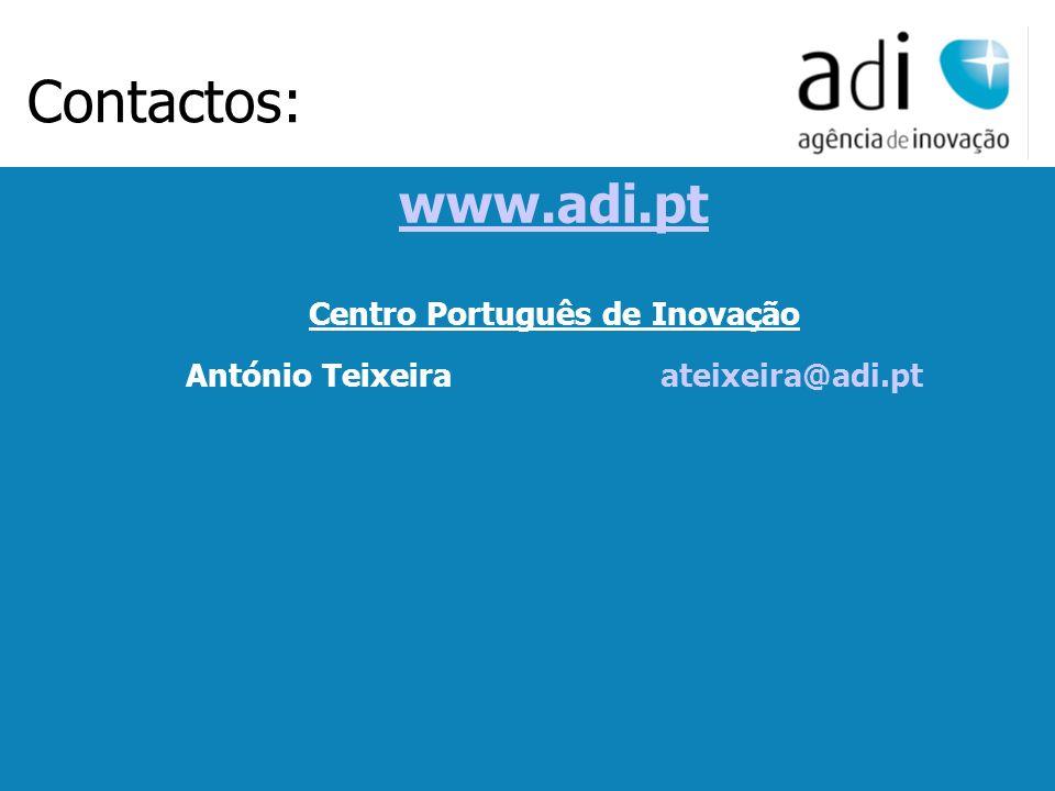 Click to edit Master text styles Second level Third level Fourth level Fifth level 17 www.adi.pt Centro Português de Inovação António Teixeiraateixeir