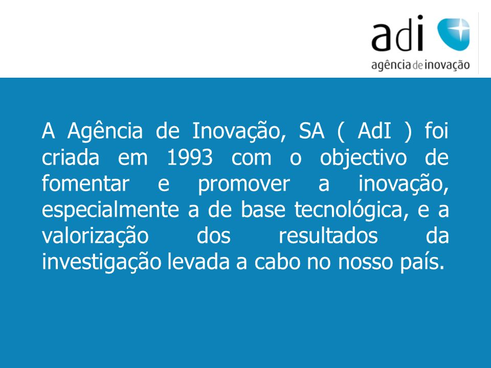 Click to edit Master text styles Second level Third level Fourth level Fifth level 13 www.adi.pt Direcção de Redes Internacionais Carlos Lajasclajas@adi.ptclajas@adi.pt Contactos: