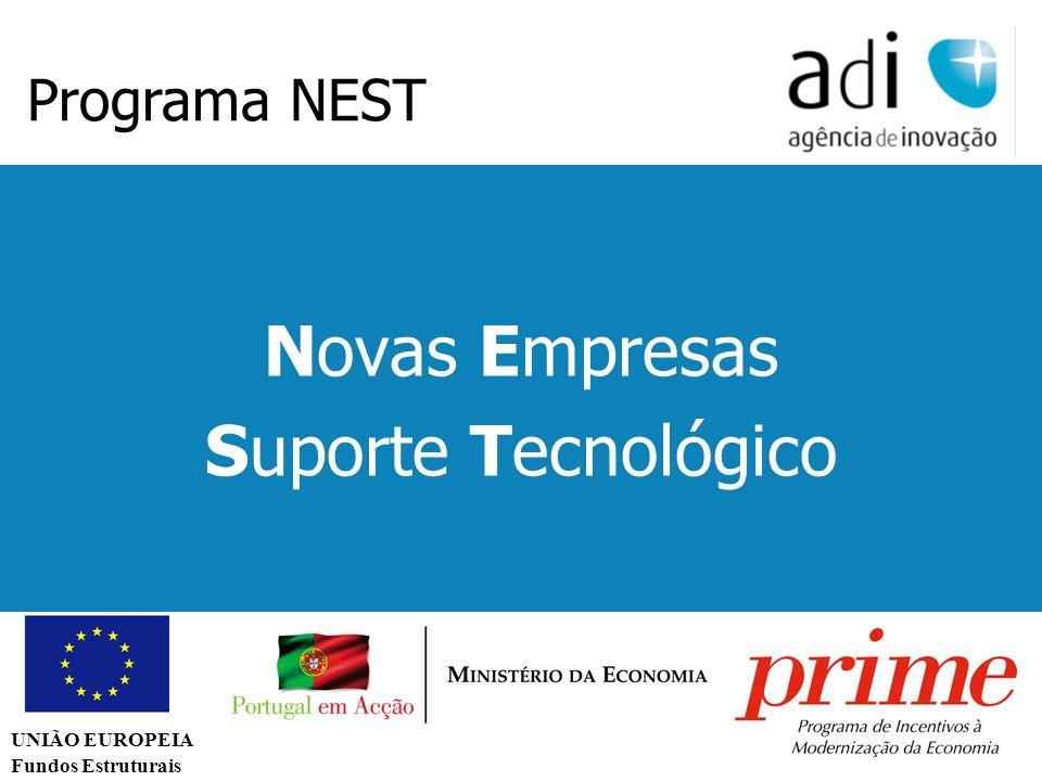Click to edit Master text styles Second level Third level Fourth level Fifth level 42 Novas Empresas Suporte Tecnológico Programa NEST UNIÃO EUROPEIA