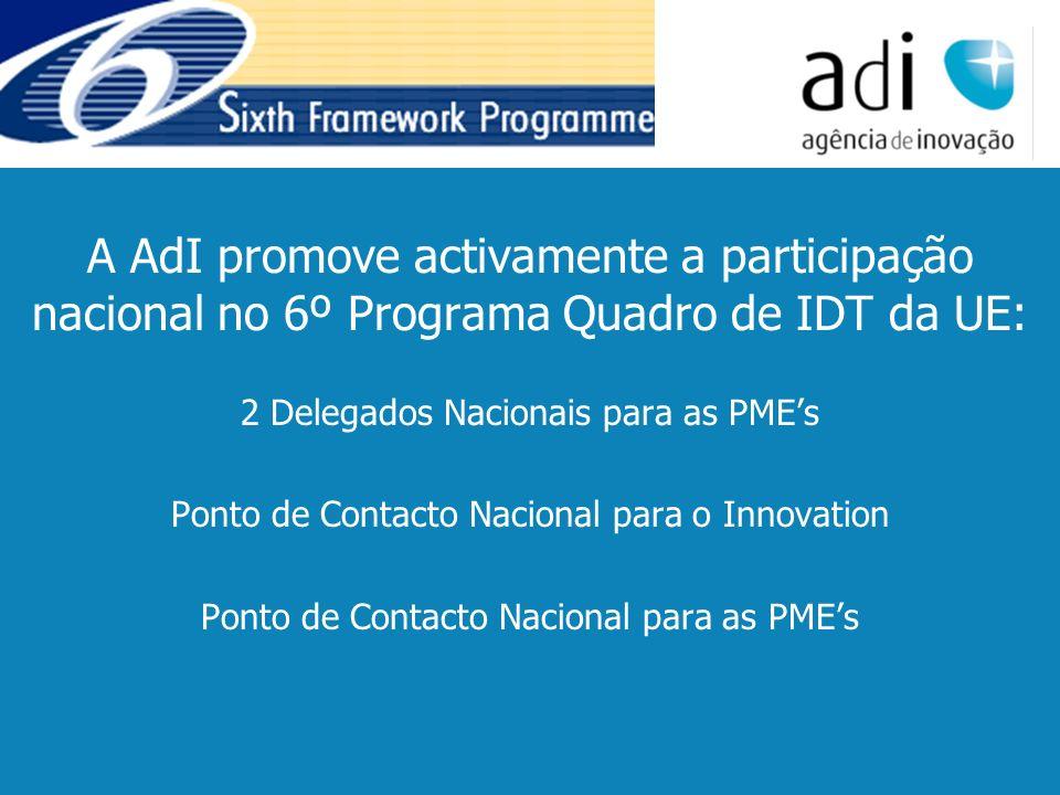 Click to edit Master text styles Second level Third level Fourth level Fifth level 7 A AdI promove activamente a participação nacional no 6º Programa