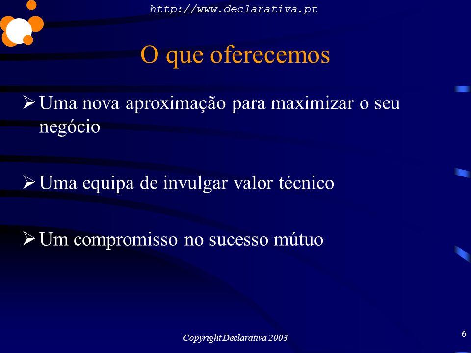 http://www.declarativa.pt Copyright Declarativa 2003 7 PlasmaMedia