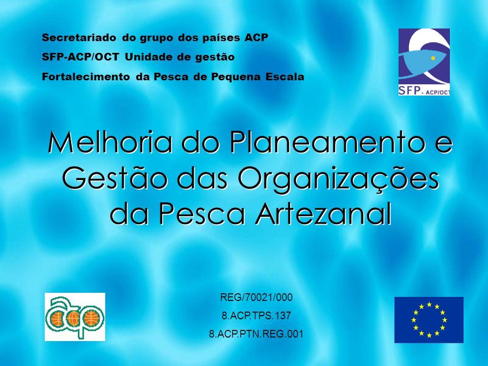 Melhoria do Planeamento e Gestão das Organizações da Pesca Artezanal REG/70021/000 8.ACP.TPS.137 8.ACP.PTN.REG.001 Secretariado do grupo dos países AC