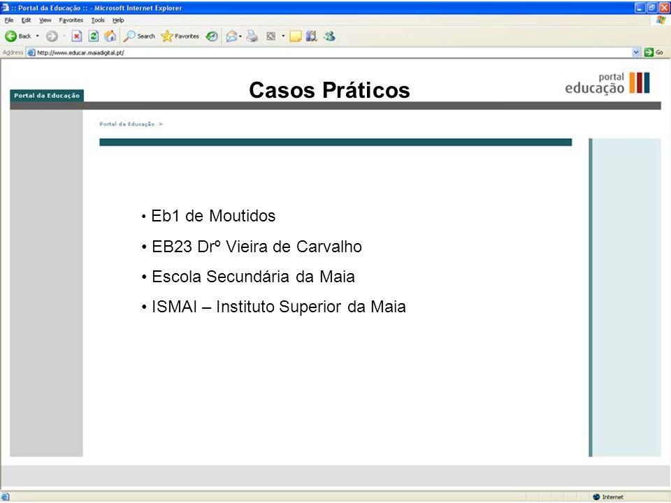 Casos Práticos Eb1 de Moutidos EB23 Drº Vieira de Carvalho Escola Secundária da Maia ISMAI – Instituto Superior da Maia