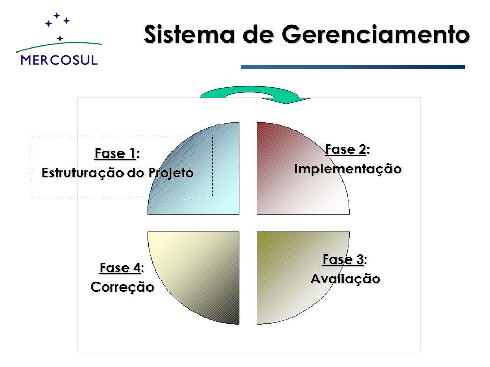 Sistema de Gerenciamento Fase 1: Estruturação do Projeto Fase 2: Implementação Fase 3: Avaliação Fase 4: Correção