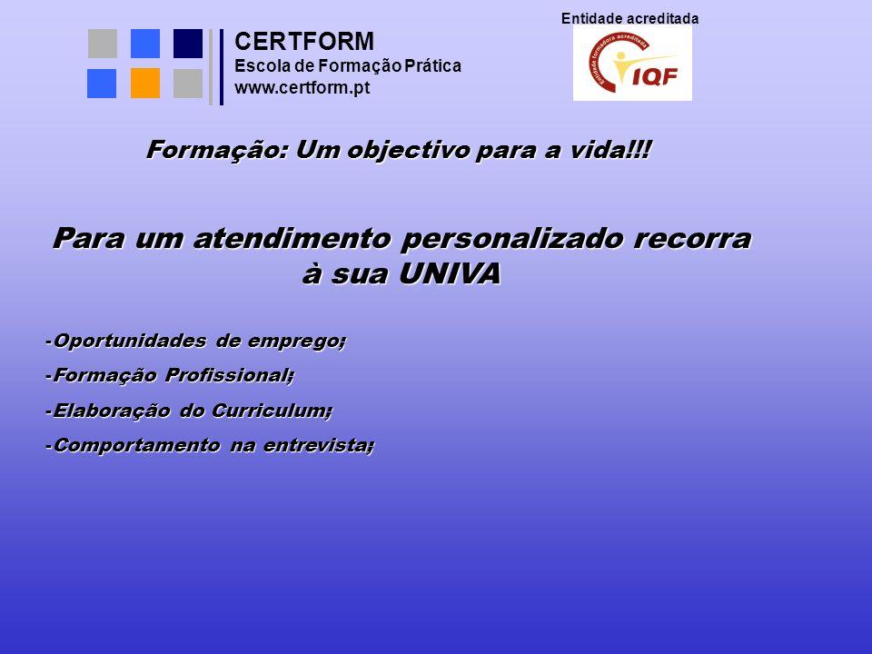 CERTFORM Entidade acreditada Escola de Formação Prática www.certform.pt Aprenda a ser vendedor do seu próprio produto: Você Venda benefícios!!.