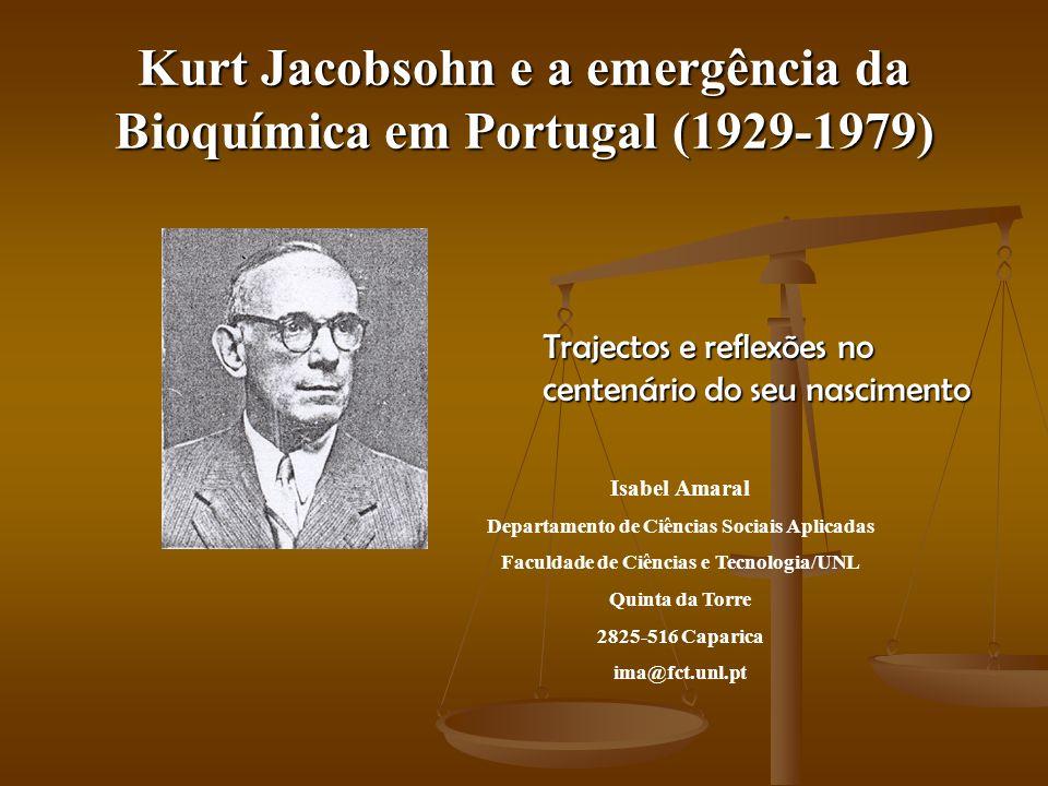 Kurt Jacobsohn Produção Científica Dos cerca de 300 trabalhos que publicou, 240 foram artigos científicos, e destes, 48% foram publicados em periódicos estrangeiros da especialidade