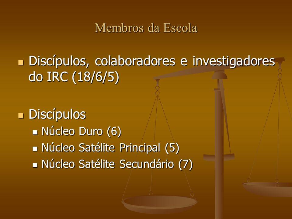 Membros da Escola Discípulos, colaboradores e investigadores do IRC (18/6/5) Discípulos, colaboradores e investigadores do IRC (18/6/5) Discípulos Dis