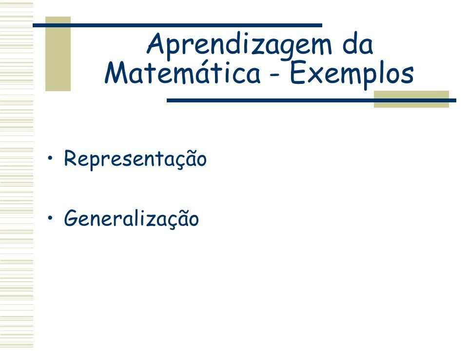 Representação Generalização