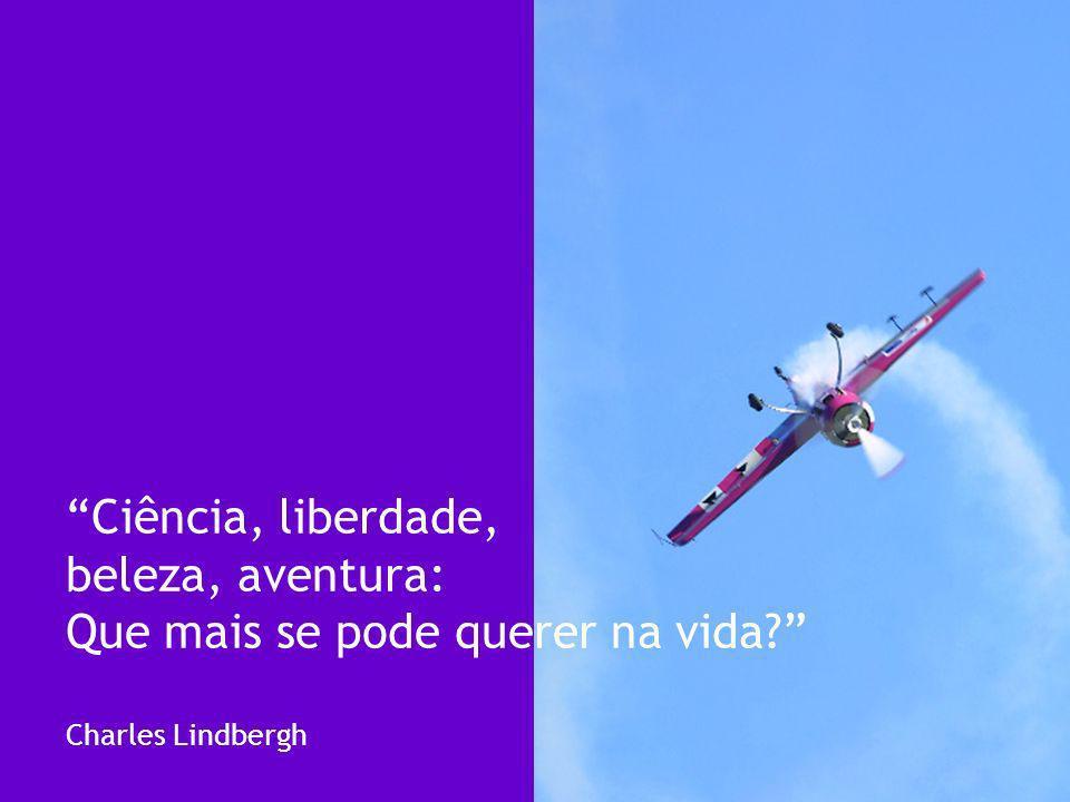 Ciência, liberdade, beleza, aventura: Que mais se pode querer na vida? Charles Lindbergh