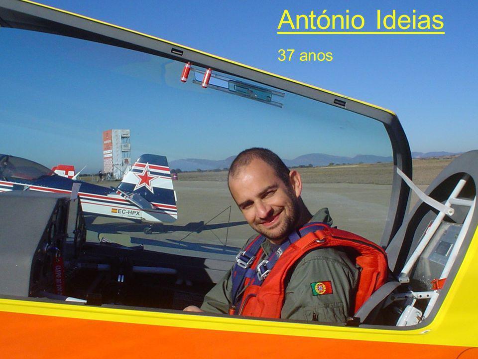 Biografia - Antonio Ideias Tem 37 anos Desde sempre a sua maior paixão foi voar e a acrobacia aérea.