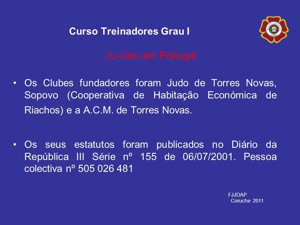 Os Clubes fundadores foram Judo de Torres Novas, Sopovo (Cooperativa de Habitação Económica de Riachos) e a A.C.M. de Torres Novas. Os seus estatutos