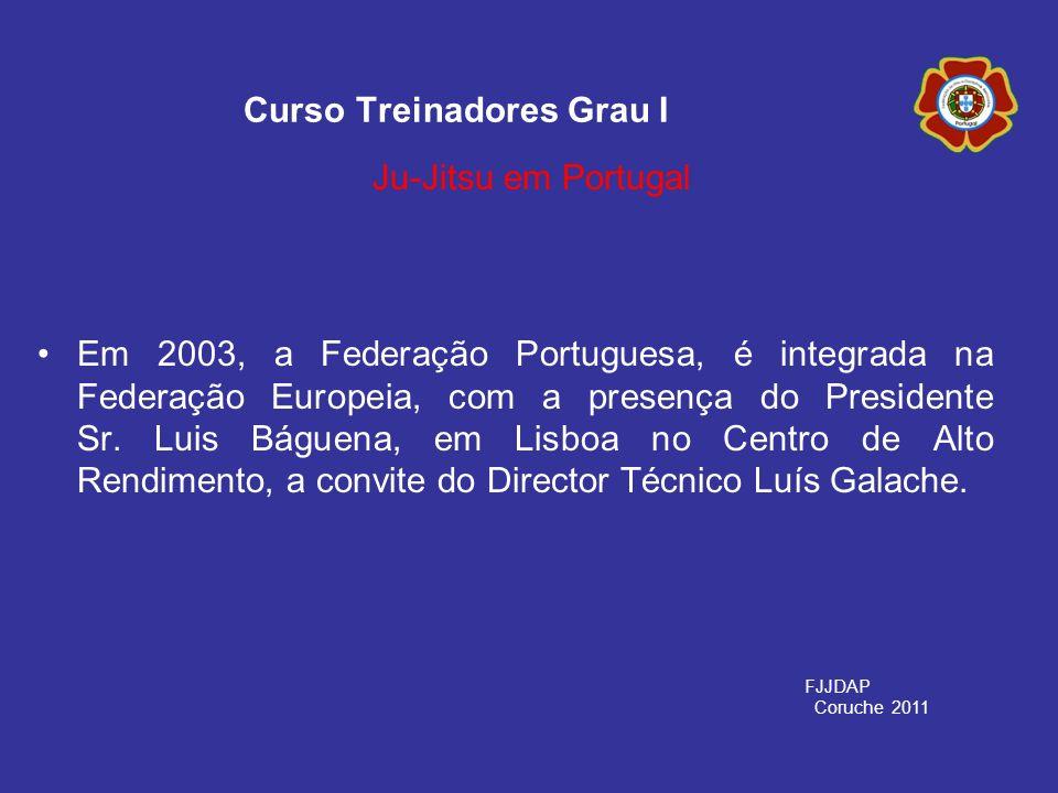 Em 2003, a Federação Portuguesa, é integrada na Federação Europeia, com a presença do Presidente Sr. Luis Báguena, em Lisboa no Centro de Alto Rendime
