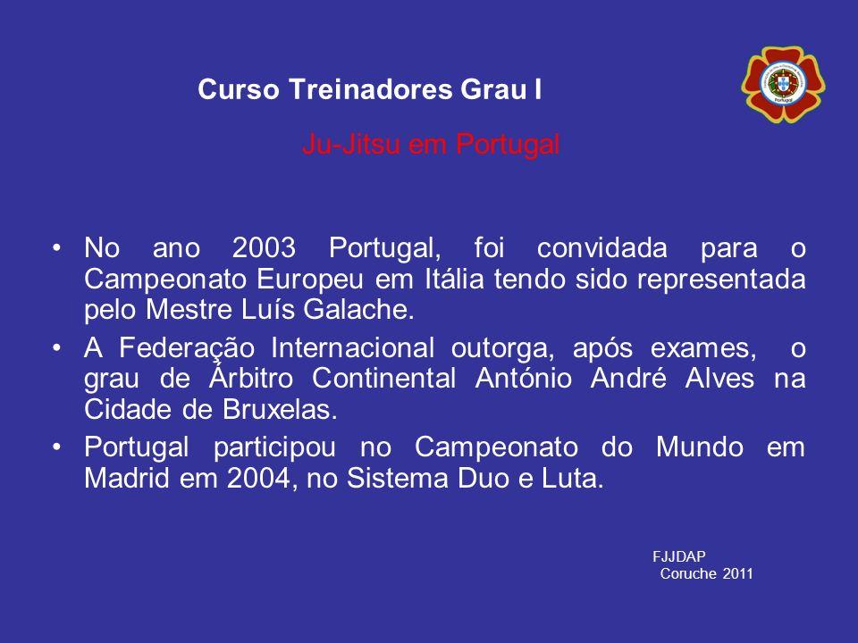 No ano 2003 Portugal, foi convidada para o Campeonato Europeu em Itália tendo sido representada pelo Mestre Luís Galache. A Federação Internacional ou