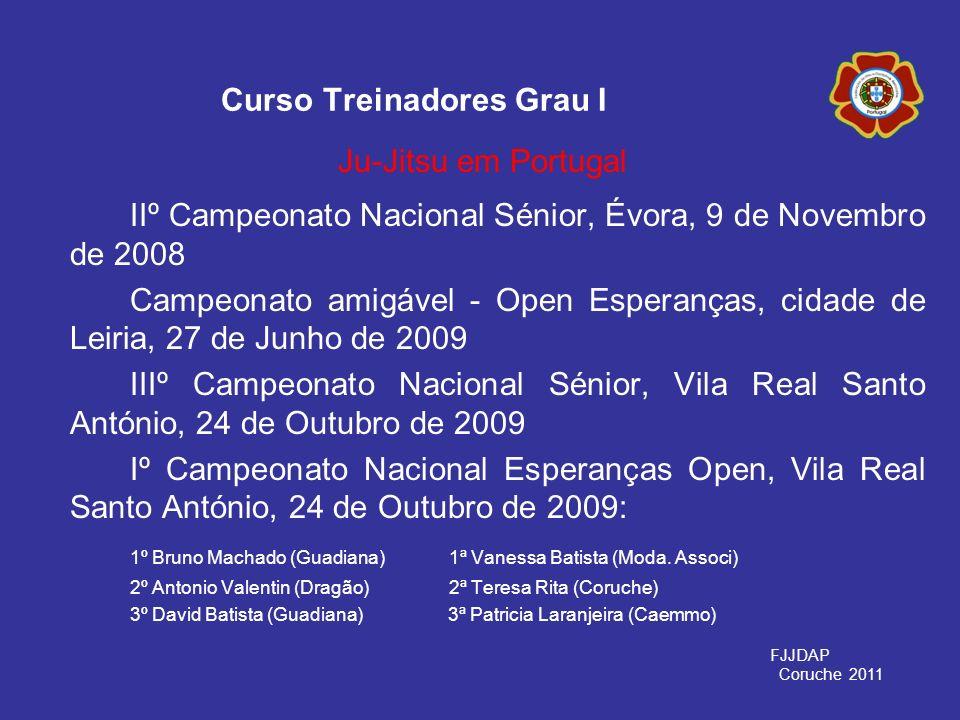 IIº Campeonato Nacional Sénior, Évora, 9 de Novembro de 2008 Campeonato amigável - Open Esperanças, cidade de Leiria, 27 de Junho de 2009 IIIº Campeon
