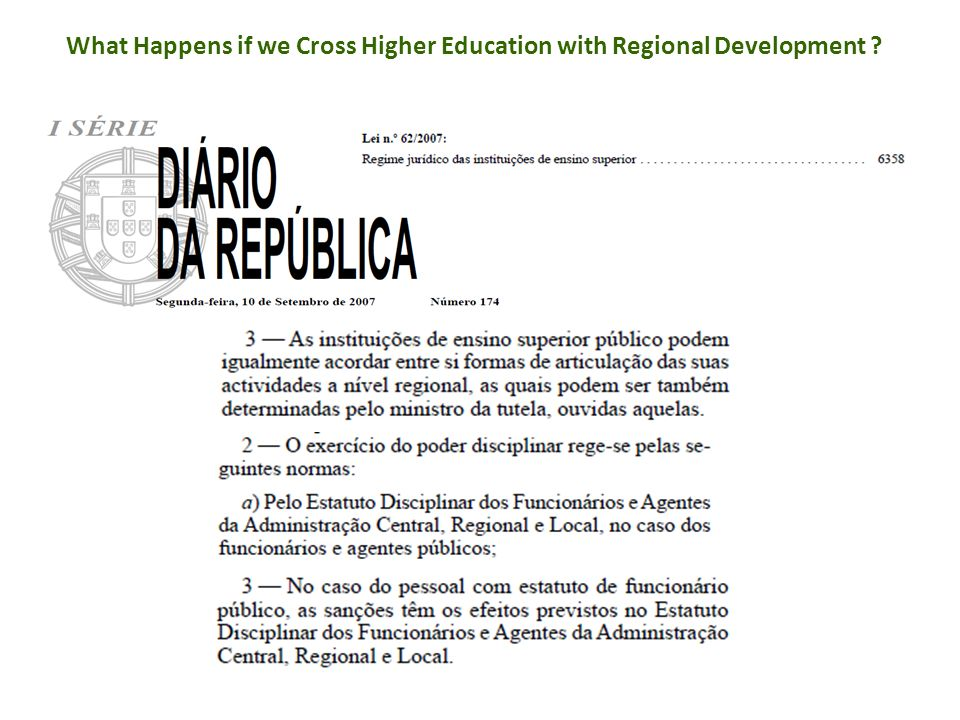 What Happens if we Cross Higher Education with Regional Development