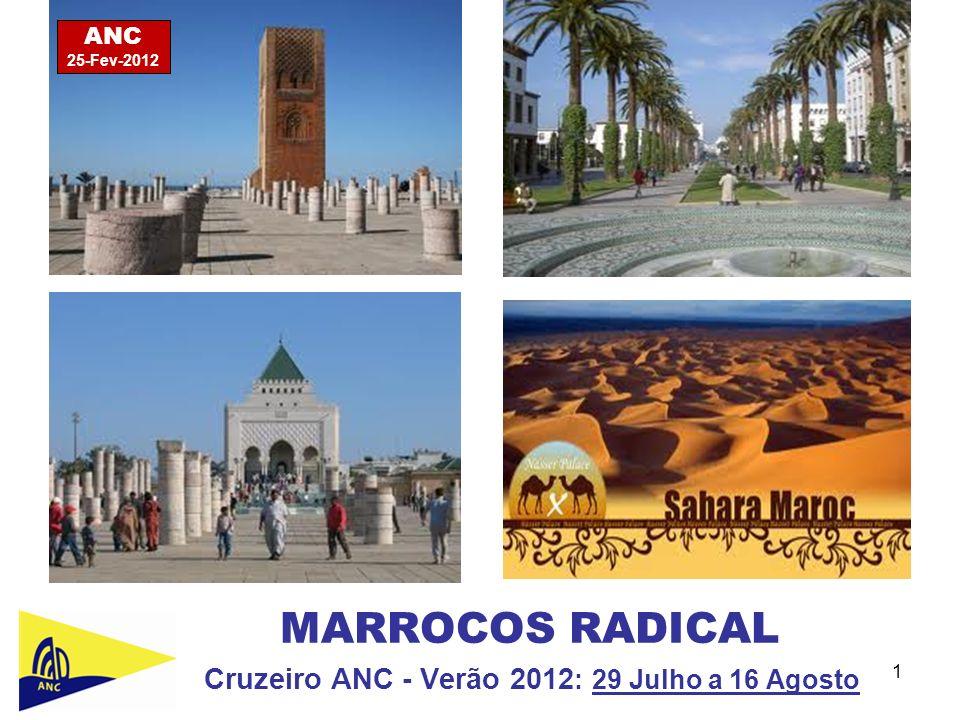 1 MARROCOS RADICAL Cruzeiro ANC - Verão 2012 : 29 Julho a 16 Agosto ANC 25-Fev-2012