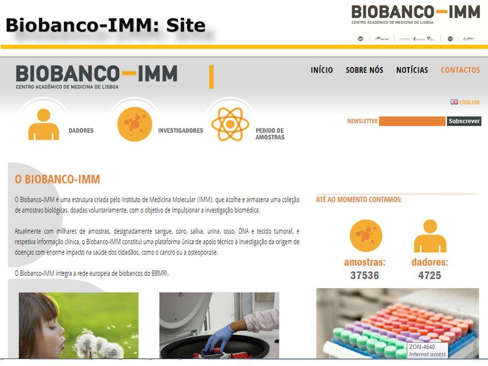 Biobanco-IMM: Site