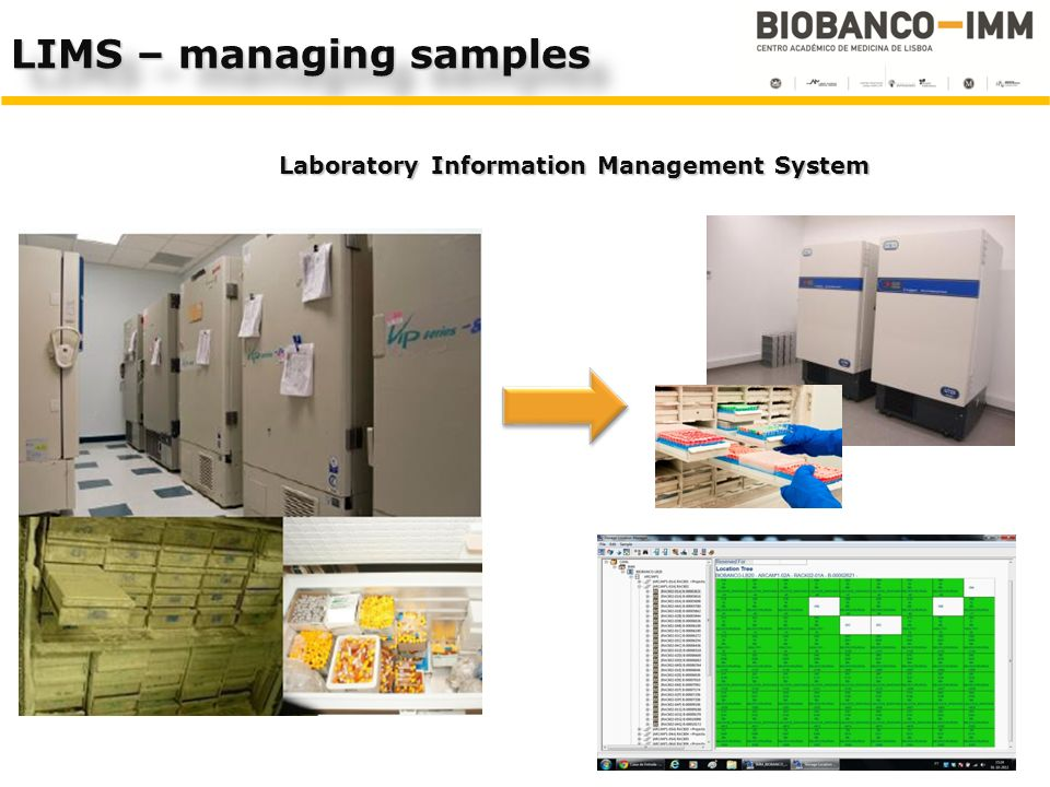 Laboratory Information Management System LIMS – managing samples
