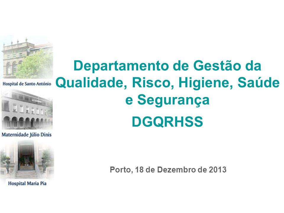 Porto, 18 de Dezembro de 2013 Departamento de Gestão da Qualidade, Risco, Higiene, Saúde e Segurança DGQRHSS