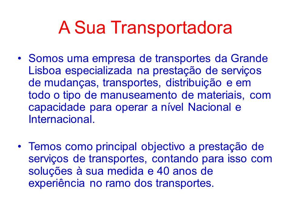 Somos uma empresa de transportes da Grande Lisboa especializada na prestação de serviços de mudanças, transportes, distribuição e em todo o tipo de ma