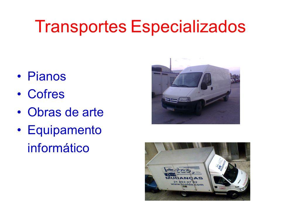 Transportes Especializados Pianos Cofres Obras de arte Equipamento informático