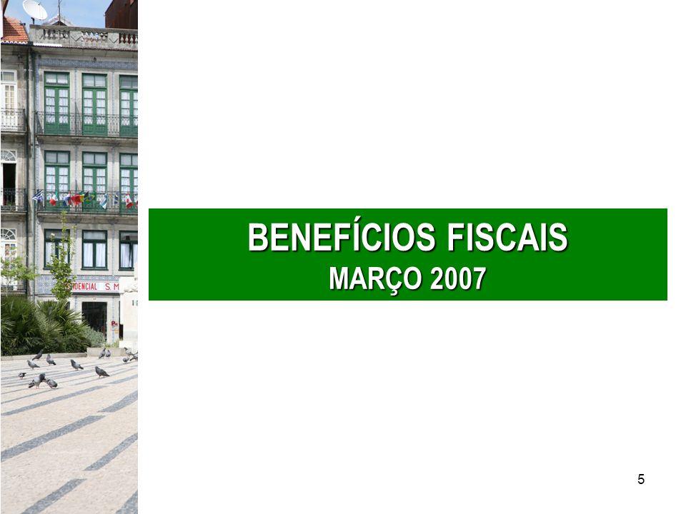 5 BENEFÍCIOS FISCAIS MARÇO 2007