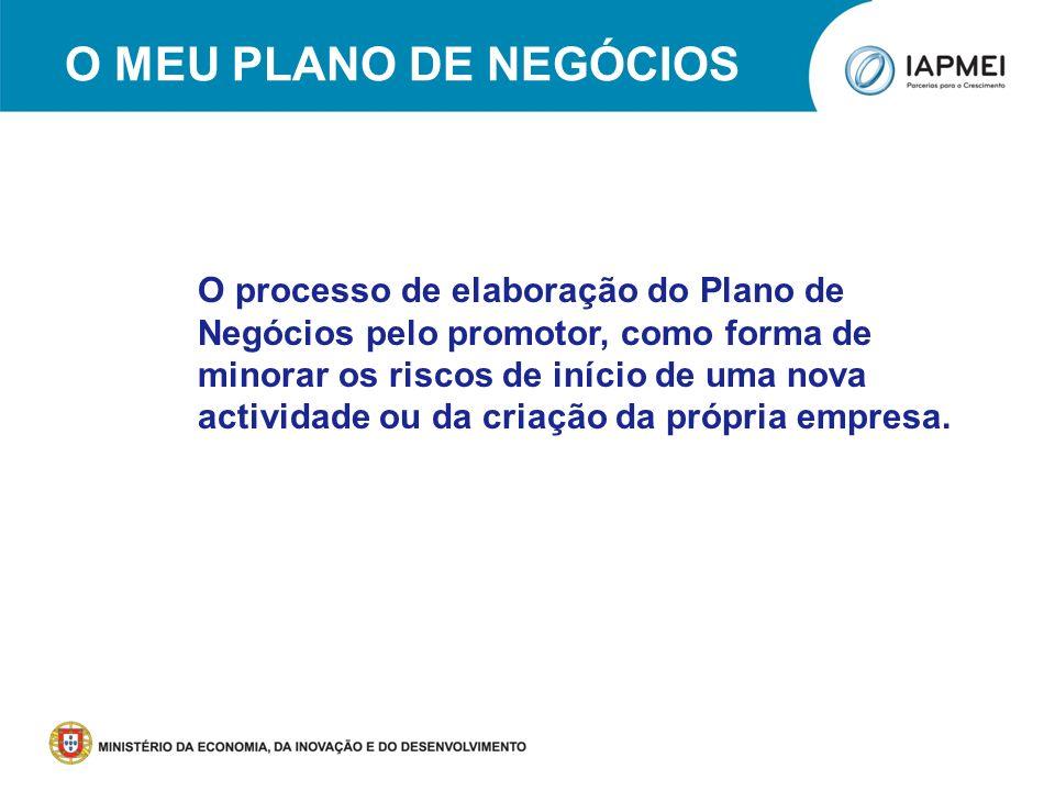 O meu Plano de Negócios Nota: Fonte dos Slides 6 a 16, NET – Novas Empresas e Tecnologias, SA; Muito obrigada.