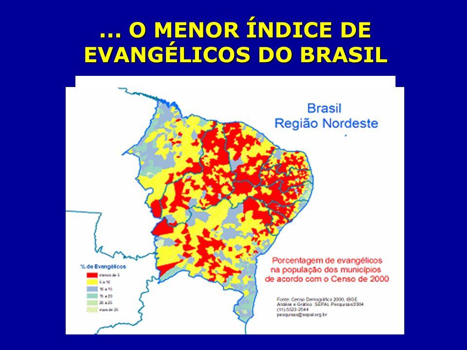 ... O MENOR ÍNDICE DE EVANGÉLICOS DO BRASIL