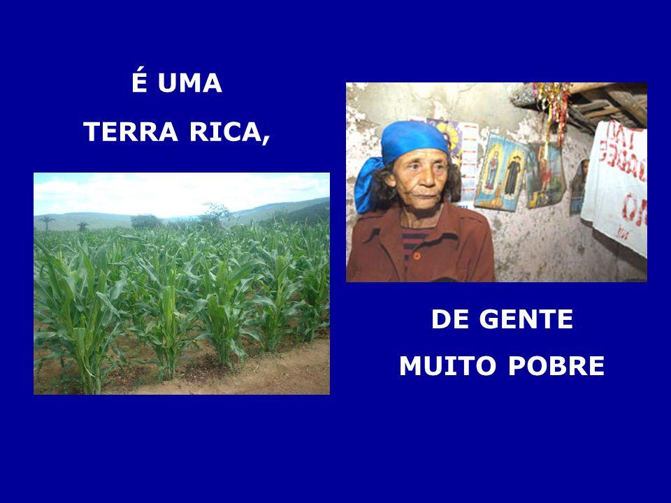 É UMA TERRA RICA, DE GENTE MUITO POBRE