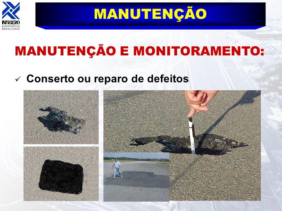 MANUTENÇÃO Conserto ou reparo de defeitos MANUTENÇÃO E MONITORAMENTO: