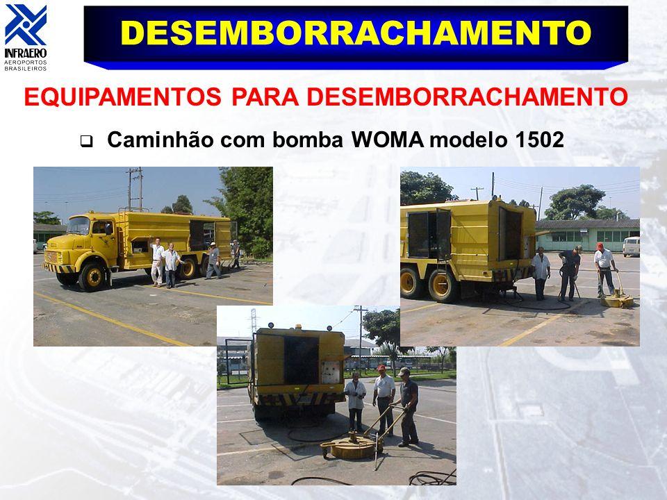DESEMBORRACHAMENTO EQUIPAMENTOS PARA DESEMBORRACHAMENTO Caminhão com bomba WOMA modelo 1502