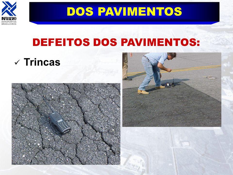 DEFEITOS DOS PAVIMENTOS: DOS PAVIMENTOS Trincas