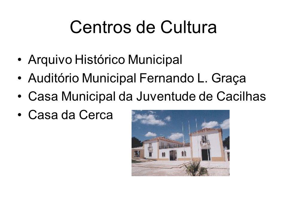 Centros de Cultura Arquivo Histórico Municipal Auditório Municipal Fernando L. Graça Casa Municipal da Juventude de Cacilhas Casa da Cerca
