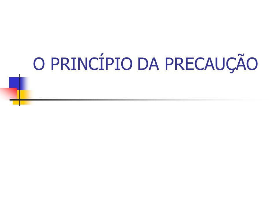 O PRINCÍPIO DA PRECAUÇÃO