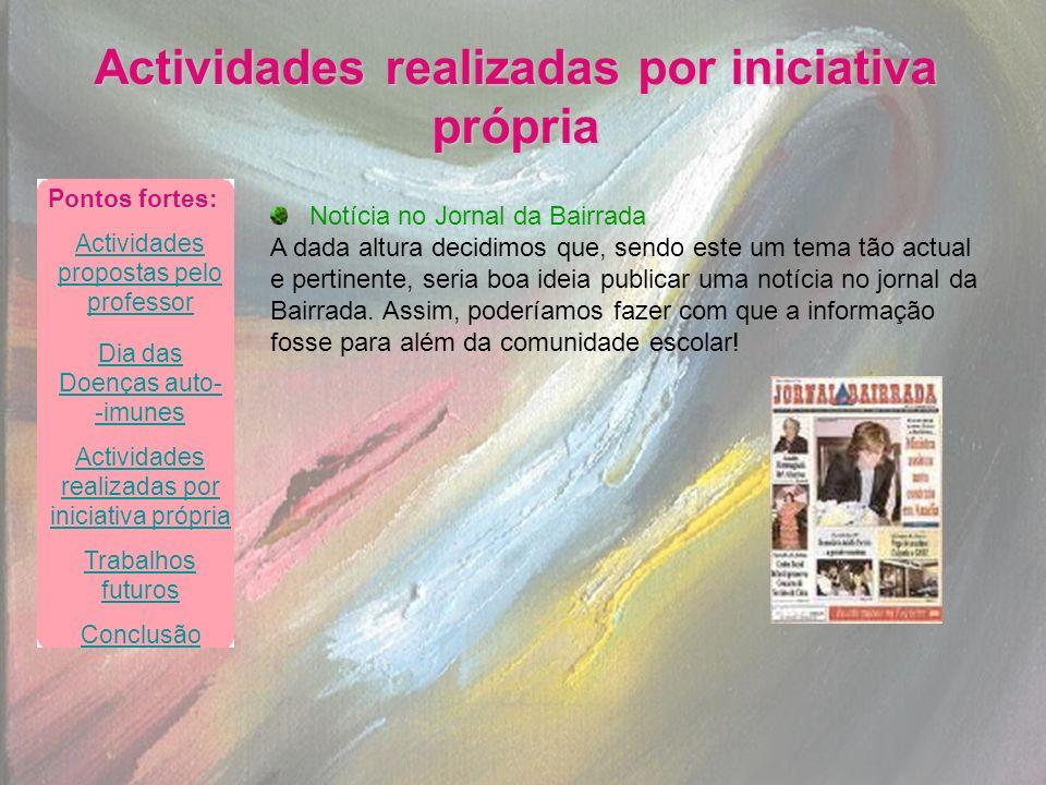 Notícia no Jornal da Bairrada A dada altura decidimos que, sendo este um tema tão actual e pertinente, seria boa ideia publicar uma notícia no jornal