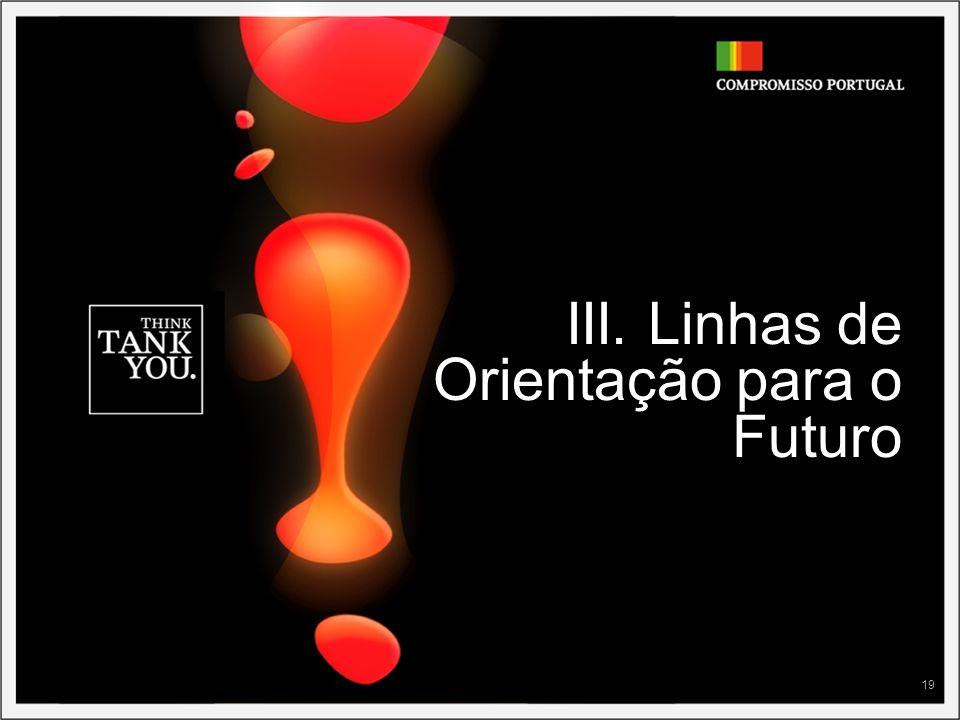 19 III. Linhas de Orientação para o Futuro