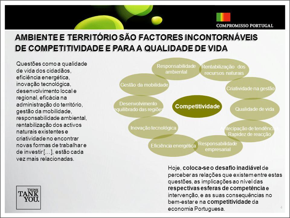 4 Questões como a qualidade de vida dos cidadãos, eficiência energética, inovação tecnológica, desenvolvimento local e regional, eficácia na administr