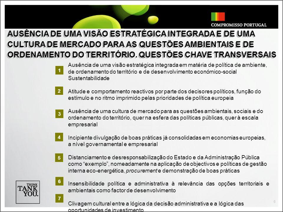7 ELEVADO PASSIVO EM MATÉRIA DE ENERGIA E AMBIENTE, COMPETÊNCIA, PROCESSOS E DINÂMICA DE ACÇÃO.