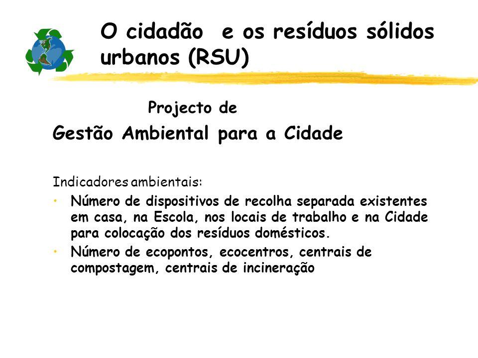 Os resíduos sólidos urbanos (RSU) são misturas de materiais com origem nas habitações, comércio e serviços (DL239/97 de 9 Set).