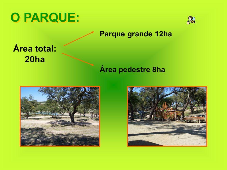 O PARQUE: Área total: 20ha Parque grande 12ha Área pedestre 8ha
