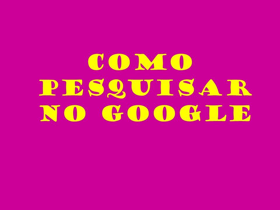 * Importância das maiúsculas / minúsculas As procuras no Google não são sensíveis a Maiúsculas e minúsculas.