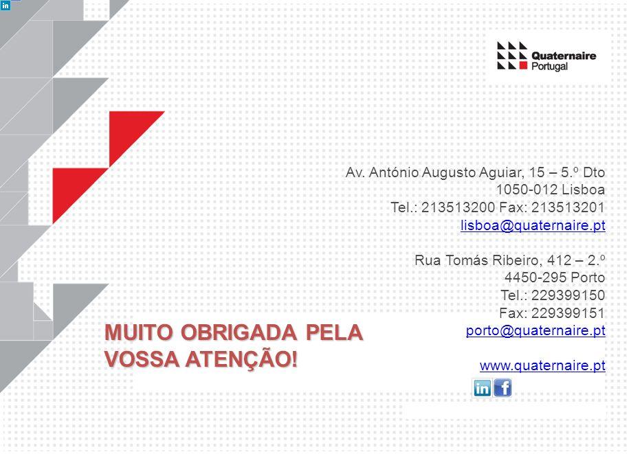 Av. António Augusto Aguiar, 15 – 5.º Dto 1050-012 Lisboa Tel.: 213513200 Fax: 213513201 lisboa@quaternaire.pt Rua Tomás Ribeiro, 412 – 2.º 4450-295 Po