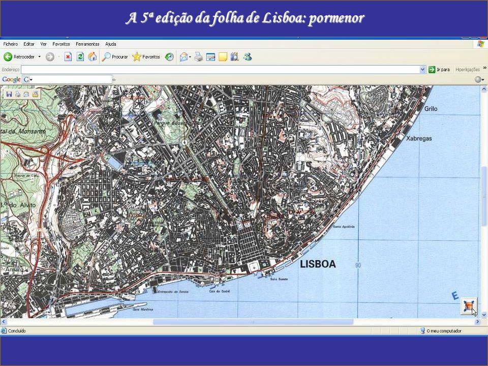 A 5ª edição da folha de Lisboa: pormenor