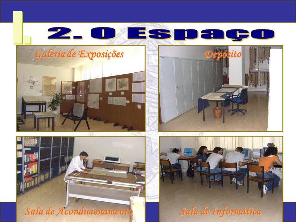 I. Galeria de Exposições Depósito Sala de Acondicionamento Sala de Informática