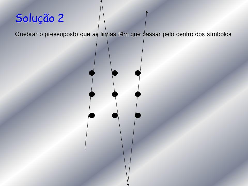 Solução 2 Quebrar o pressuposto que as linhas têm que passar pelo centro dos símbolos