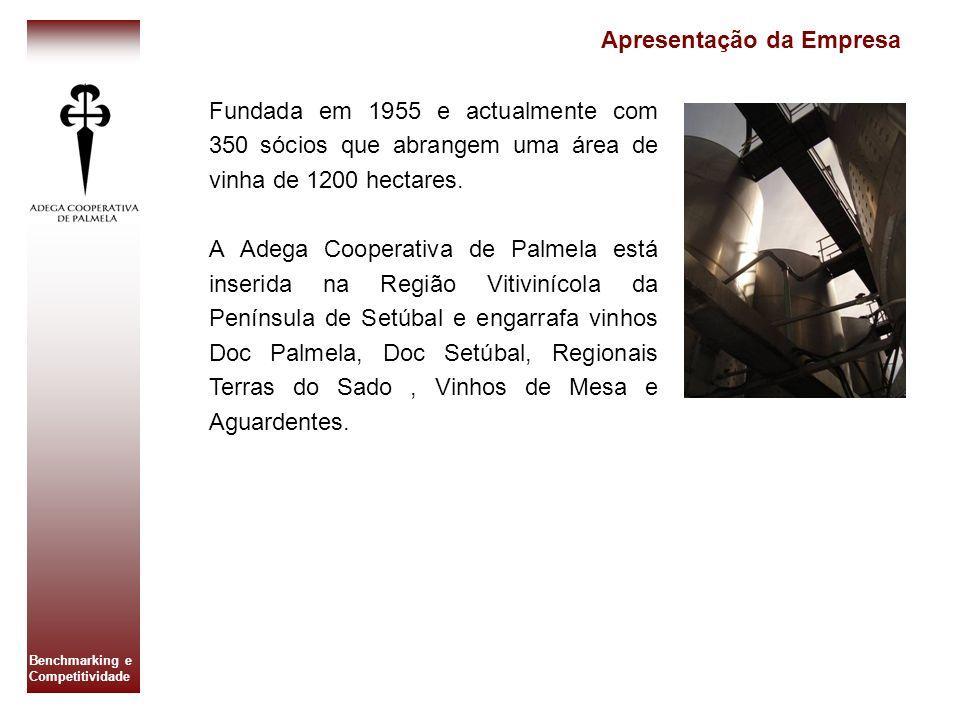Benchmarking e Competitividade Fundada em 1955 e actualmente com 350 sócios que abrangem uma área de vinha de 1200 hectares. A Adega Cooperativa de Pa