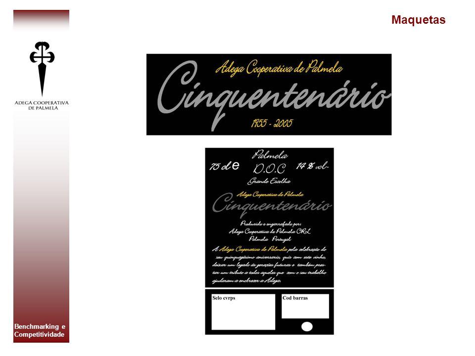 Benchmarking e Competitividade Elaboração de anúncio e colocação em vários jornais Colocação da garrafa no sector de vendas.